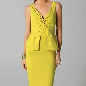 Authentic LELA ROSE Peplum Tie Knot Pencil Dress 2
